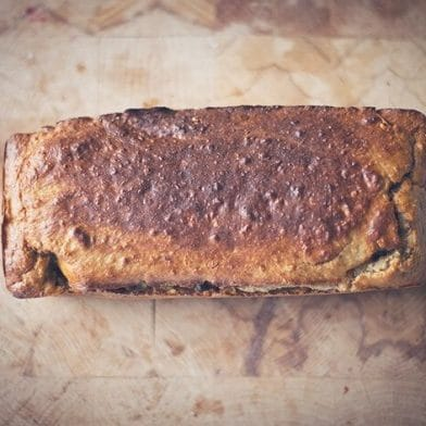 Banana quark bread fresh out of the oven