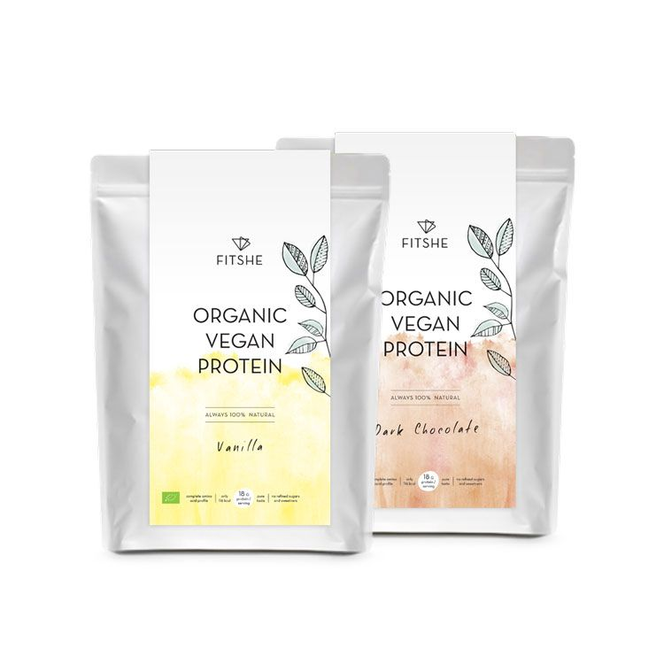 FITSHE all organic vegan protein pouches