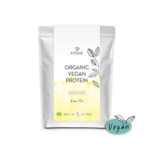 FITSHE organic vegan protein vanilla pouch productimage